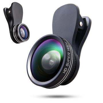 スマホ用カメラレンズ クリップ式レンズ 3点セット