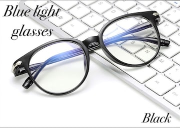 ボストン メガネ ブルーライトカット 伊達眼鏡 丸型 PC用メガネ