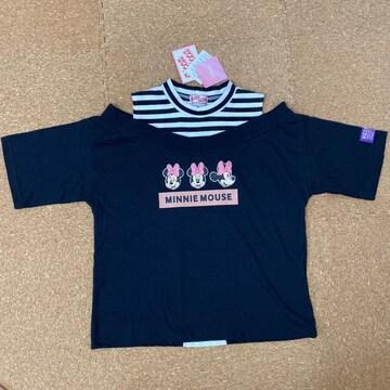 新品タグ付き150半袖Tシャツ肩出しタイプ ディズニーミニー