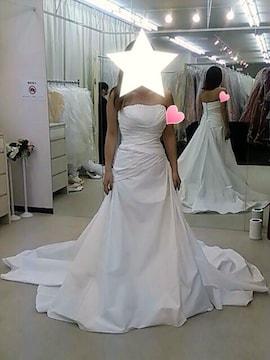☆カシュクールウエディングドレス☆パニエ付き美品9〜11くらい