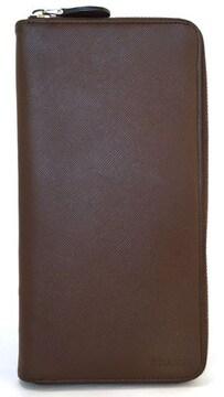 カード付正規プラダ長財布メンズラウンドファスナー財