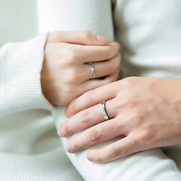 ☆ジルコニア 指輪 ペアリング☆フリーサイズ