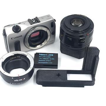 Canon EOS M + EF-M 純正アダプター + EF50 F1.8