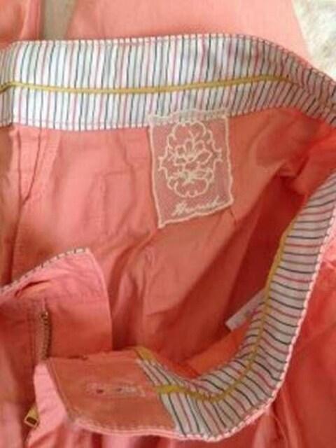 コットン カジュアル テーパード クロップド パンツ◆ピンク S < 女性ファッションの