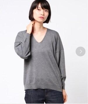新品☆アースミュージック&エコロジー ウール混抜け衿ニットプルオーバー☆