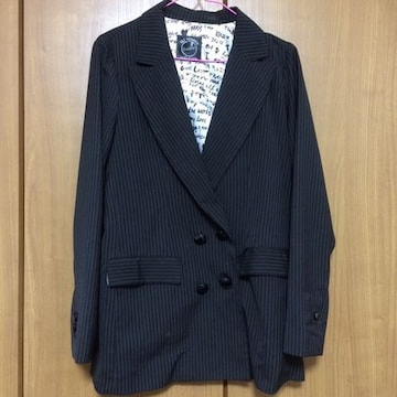 送料込み☆ ストライプ ジャケット!