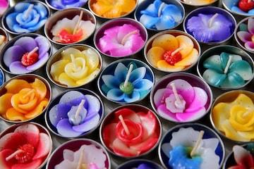 フラワーキャンドル アロマ の 香り 20個セット