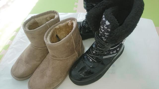 22.5�p★女の子靴★瞬足ブーツ 他  < キッズ/ベビーの