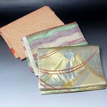 【名古屋帯 3枚セット】正絹 名古屋帯 すべて着用可能/1319-3