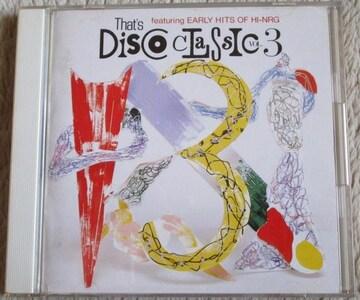 ザッツ ディスコ クラシック VOL3 80sディスコ ハイエナジー