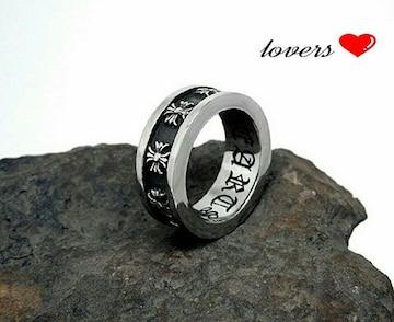 送料無料21号シルバークロス十字架フープスペーサーリング指輪