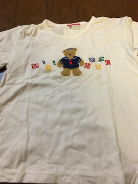 半袖Tシャツ ミキハウス 100 白にクマ