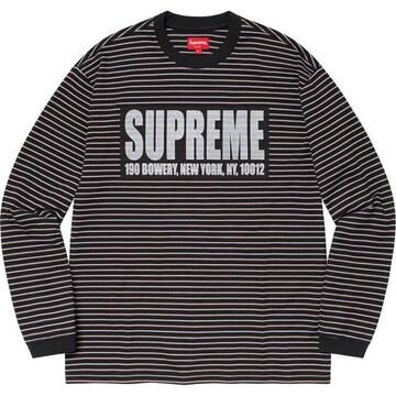 Supreme Thin Stripe L/S Top ロンT L 21SS