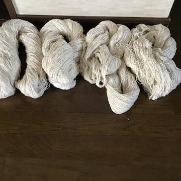 編み物糸4束