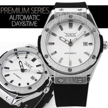 NEW★42mmフェイスバックスケルトン自動巻き腕時計カレンダー WH