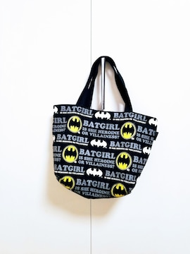 バットマン◆ロゴロゴトートバッグ 黒◆BATMAN コウモリ