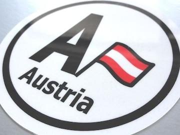 ○円形 オーストリア国旗ステッカービークルID国識別シール