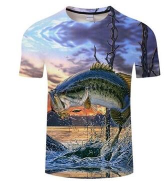 バスフィッシング!!速乾!!かっこいい!TシャツXXLサイズ新品