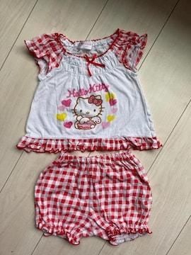 サンリオ ハローキティ キティーちゃん ベビー 80 セットアップ 半袖 tシャツ パンツ