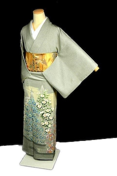 【最高峰】新品同様 人間国宝【羽田登喜男】1つ紋 色留袖 T2100