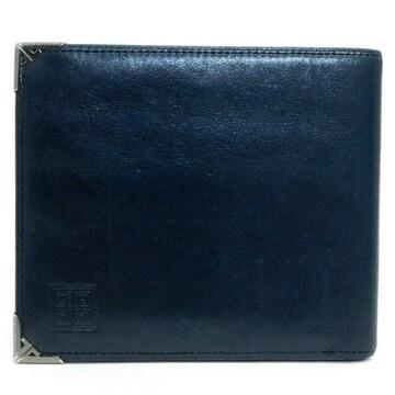 GIVENCHYジバンシィ 札入れ 二つ折り財布 レザー 黒 良品 正規品