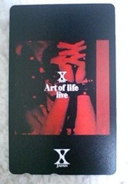 新品未使用 X JAPAN テレカ hide YOSHIKI Art of life