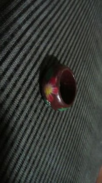 木製 指輪 花柄