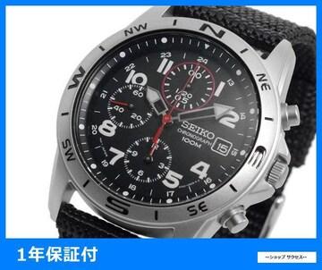 新品 即買い■セイコー 腕時計 SND399P クロノグラフ ブラック