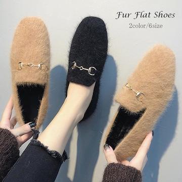 ファーパンプス レディース 秋冬 韓国 靴 走れるパンプス