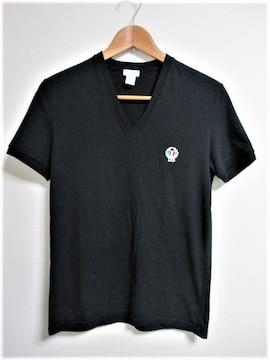 ☆ドルチェアンドガッバーナ ドルガバ ロゴ 刺繍 Tシャツ 半袖/メンズ☆ブラック