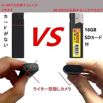 超小型カメラHD1080p - ライター型隠しカメラ