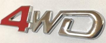 汎用4WD金属3Dエンブレム 4×4 ドレスアップ カスタム